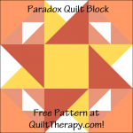 """Paradox Quilt Block Free Pattern for a 12"""" quilt block at QuiltTherapy.com!"""