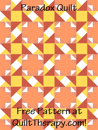 """Paradox Quilt Free Pattern for a 36"""" x 48"""" quilt at QuiltTherapy.com!"""