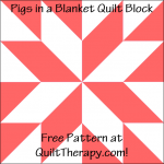 "Pigs in a Blanket Quilt Block Free Pattern for a 12"" quilt block at QuiltTherapy.com!"