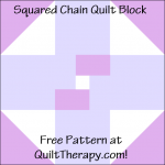 """Squared Chain Quilt Block Free Pattern for a 12"""" quilt block at QuiltTherapy.com!"""
