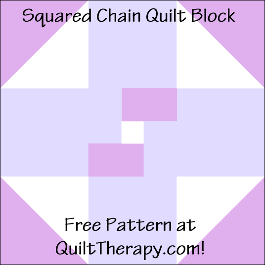 "Squared Chain Quilt Block Free Pattern for a 12"" quilt block at QuiltTherapy.com!"