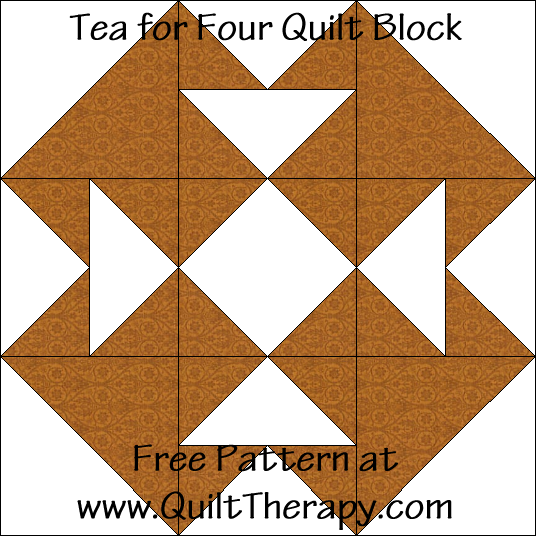 Tea for Four Quilt Block