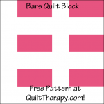 """Bars Quilt Block Free Pattern for a 12"""" quilt block at QuiltTherapy.com!"""