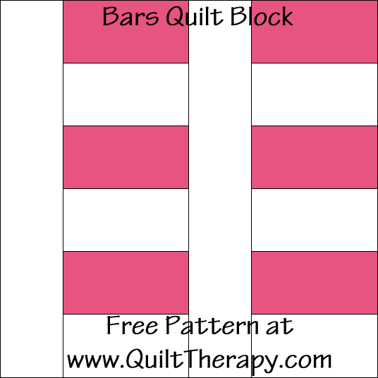 Bars Quilt Block Free Pattern at QuiltTherapy.com!