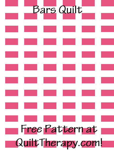 "Bars Quilt Free Pattern for a 36"" x 48"" quilt at QuiltTherapy.com!"