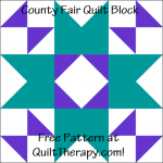 """County Fair Quilt Block Free Pattern for a 12"""" quilt block at QuiltTherapy.com!"""