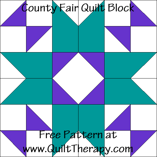 County Fair Quilt Block Free Pattern at QuiltTherapy.com!