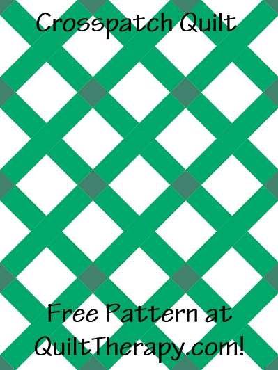 """Crosspatch Quilt Free Pattern for a 36"""" x 48"""" quilt at QuiltTherapy.com!"""