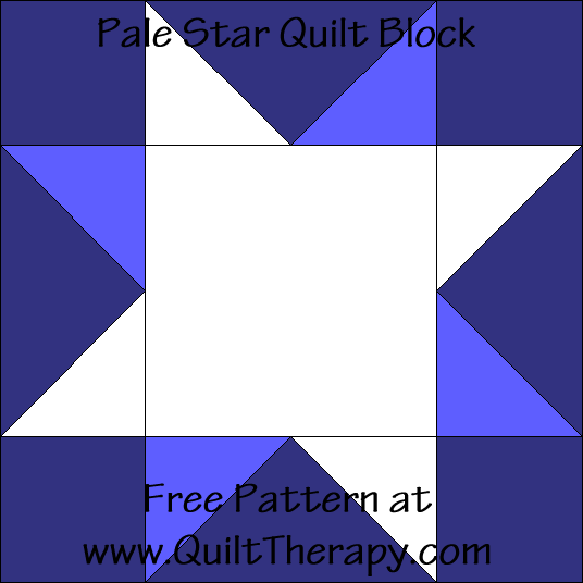 Pale Star Quilt Block Free Pattern at QuiltTherapy.com!
