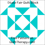 """State Fair Quilt Block Free Pattern for a 12"""" quilt block at QuiltTherapy.com!"""