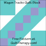 """Wagon Tracks Quilt Block Free Pattern for a 12"""" quilt block at QuiltTherapy.com!"""