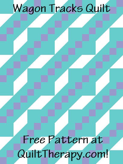 "Wagon Tracks Quilt Free Pattern for a 36"" x 48"" quilt at QuiltTherapy.com!"