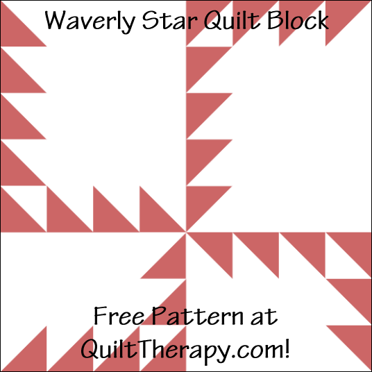 "Waverly Star Quilt Block Free Pattern for a 12"" quilt block at QuiltTherapy.com!"