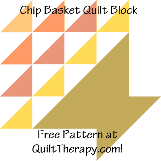 "Chip Basket Quilt Block Free Pattern for a 12"" quilt block at QuiltTherapy.com!"