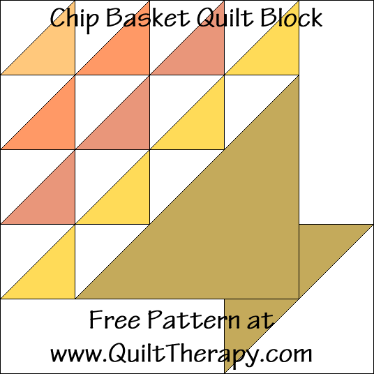 Chip Basket Quilt Block Free Pattern at QuiltTherapy.com!