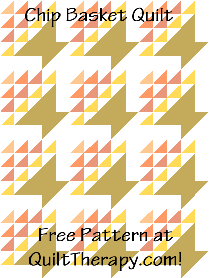 "Chip Basket Quilt Free Pattern for a 36"" x 48"" quilt at QuiltTherapy.com!"