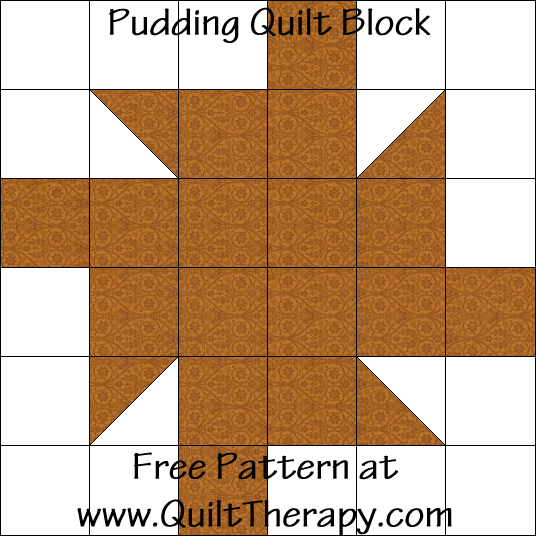Pudding Quilt Block Free Pattern at QuiltTherapy.com!