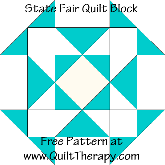 State Fair Quilt Block Free Pattern at QuiltTherapy.com!