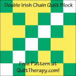 """Double Irish Chain Quilt Block with Three Trees Free Pattern for a 12"""" quilt block at QuiltTherapy.com!"""