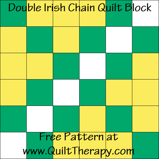 Double Irish Chain Quilt Block Free Pattern at QuiltTherapy.com!