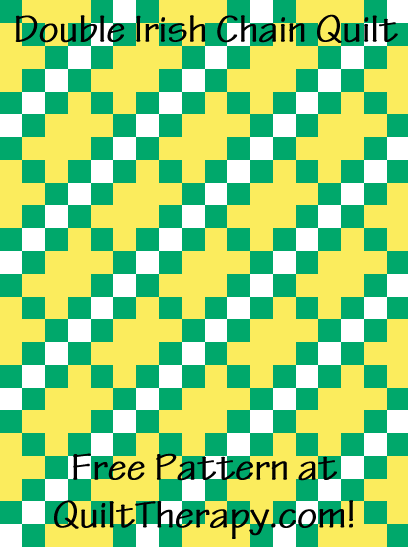 "Double Irish Chain Quilt Free Pattern for a 36"" x 48"" quilt at QuiltTherapy.com!"