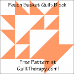 """Peach Basket Quilt Block Free Pattern for a 12"""" quilt block at QuiltTherapy.com!"""