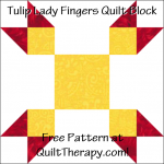 """Tulip Lady Fingers Quilt Block Free Pattern for a 12"""" quilt block at QuiltTherapy.com!"""