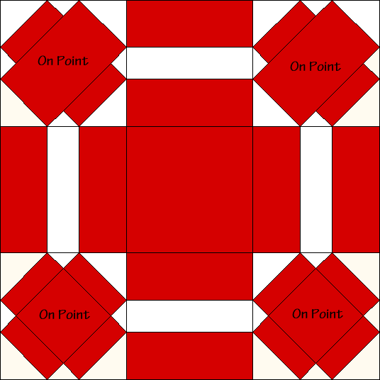 Dutch Puzzle Quilt Block Diagram Free Pattern at QuiltTherapy.com!