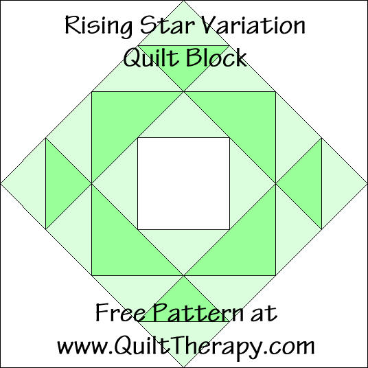 Rising Star Variation Quilt Block Free Pattern at QuiltTherapy.com!