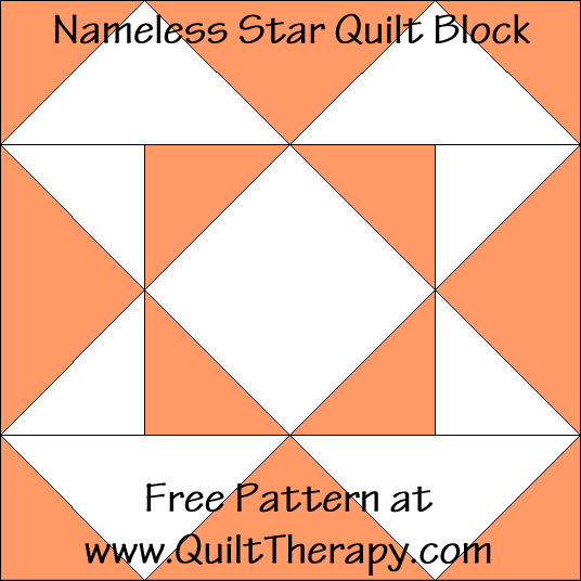Nameless Star Quilt Block Free Pattern at QuiltTherapy.com!