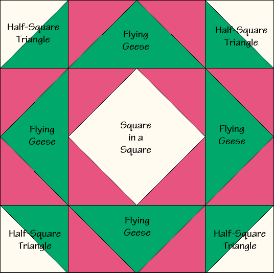 Canadian Gardens Quilt Block Diagram Free Pattern at QuiltTherapy.com!