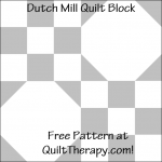 """Dutch Mill Quilt Block Free Pattern for a 12"""" quilt block at QuiltTherapy.com!"""