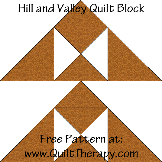 Hill and Valley Quilt Block Free Pattern at QuiltTherapy.com!