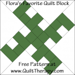 Flora's Favorite Quilt Block Free Pattern at QuiltTherapy.com!