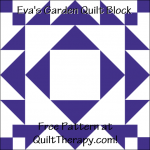 """Eva's Garden Quilt Block a Free Pattern for a 12"""" quilt block at QuiltTherapy.com!"""