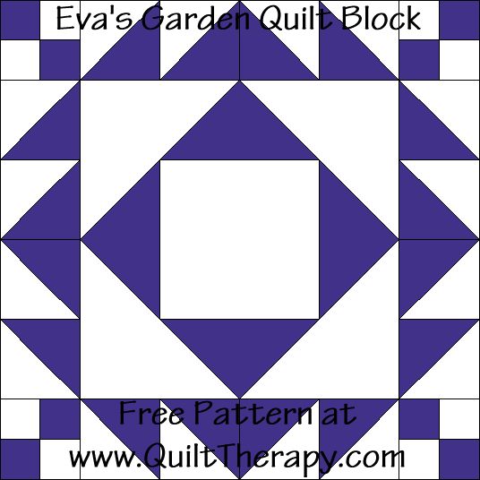 Eva's Garden Quilt Block Free Pattern at QuiltTherapy.com!