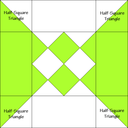 Granny's Choice Quilt Block Diagram Free Pattern at QuiltTherapy.com!