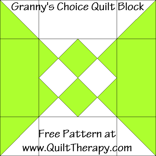 Granny's Choice Quilt Block Free Pattern at QuiltTherapy.com!