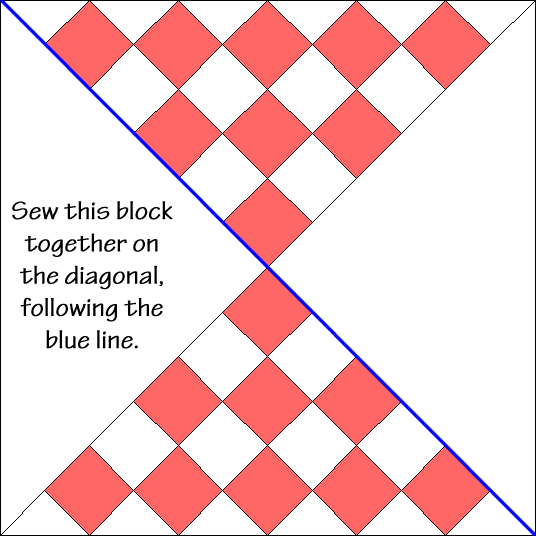 New Hour Glass Quilt Block Diagram Free Pattern at QuiltTherapy.com!