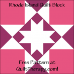 """Rhode Island Quilt Block a Free Pattern for a 12"""" quilt block at QuiltTherapy.com!"""