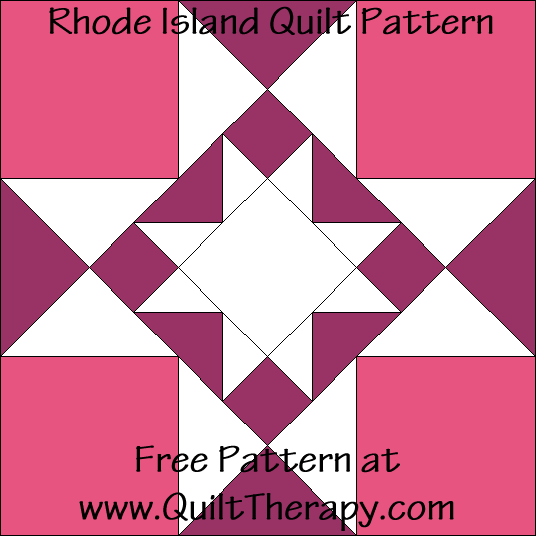 Rhode Island Quilt Block Free Pattern at QuiltTherapy.com!