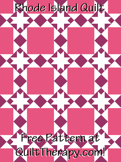"""Rhode Island Quilt a Free Pattern for a 36"""" x 48"""" quilt at QuiltTherapy.com!"""