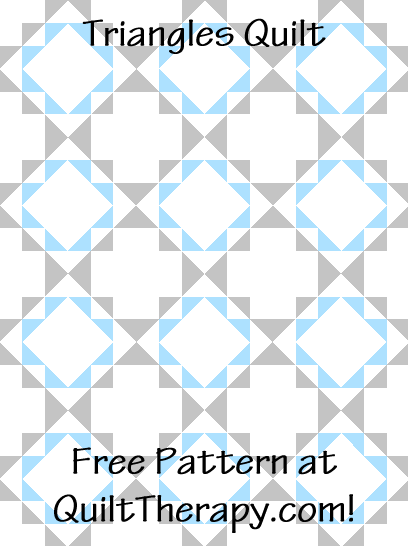 """Triangles Quilt a Free Pattern for a 36"""" x 48"""" quilt at QuiltTherapy.com!"""