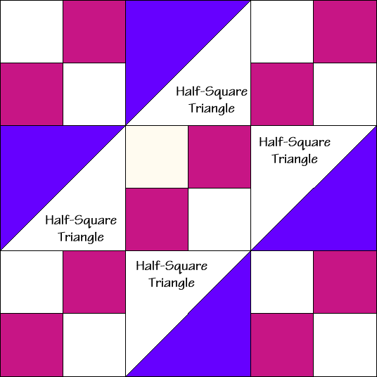 Wagon Tracks Quilt Block Diagram Free Pattern at QuiltTherapy.com!