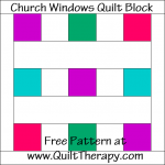 Church Windows Quilt Block Free Pattern at QuiltTherapy.com!