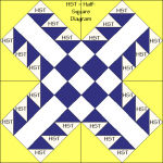 Crossroads to Texas Quilt Block Diagram Free Pattern at QuiltTherapy.com!