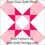 Lone Star Quilt Block Free Pattern at QuiltTherapy.com!