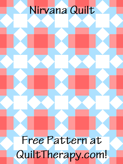 "Nirvana Quilt a Free Pattern for a 36"" x 48"" quilt at QuiltTherapy.com!"