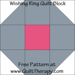 Wishing Ring Quilt Block Free Pattern at QuiltTherapy.com!