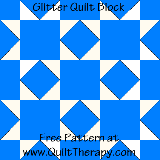 Glitter Quilt Block Free Pattern at QuiltTherapy.com!